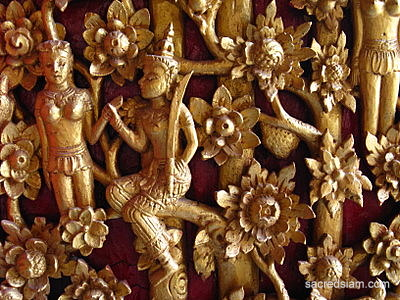 Nareepol tree fruit women wooden carving