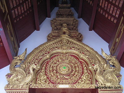 Wat Chang Taem Chiang Mai gilded pediment